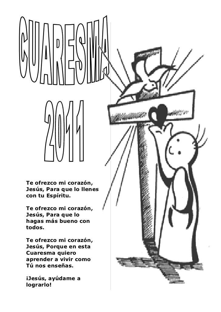 Cuaresma 2011 folleto de oraciones