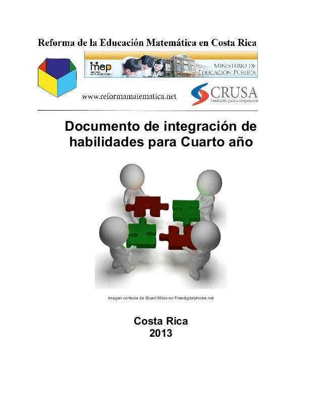 Integración de Habilidades Cuarto Año, Educación Primaria