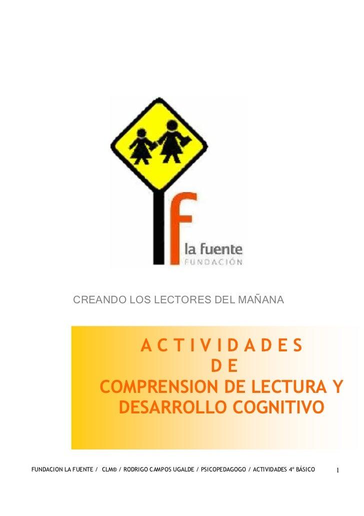 CREANDO LOS LECTORES DEL MAÑANA                         ACTIVIDADES                                DE                     ...