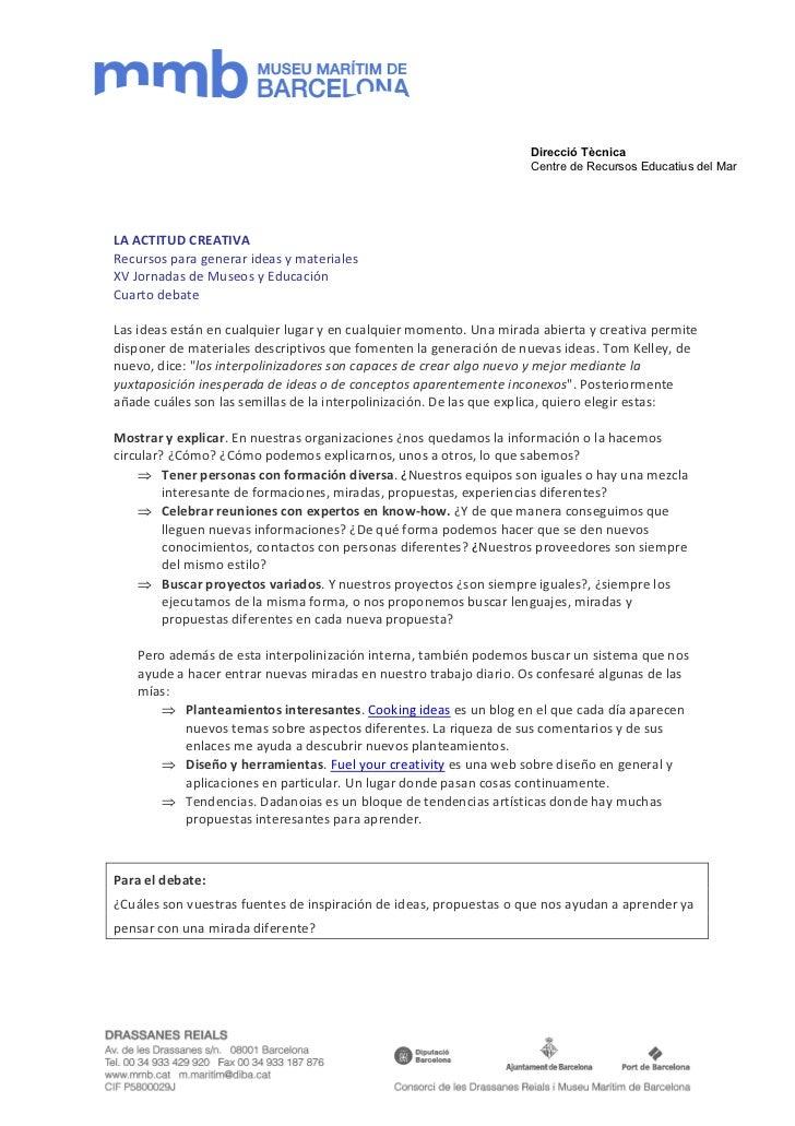 Direcció Tècnica                                                                    Centre de Recursos Educatius del MarLA...