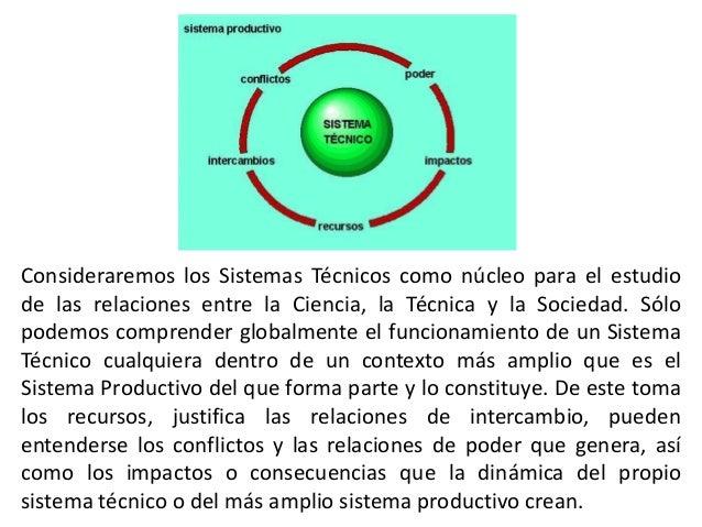 Consideraremos los Sistemas Técnicos como núcleo para el estudiode las relaciones entre la Ciencia, la Técnica y la Socied...