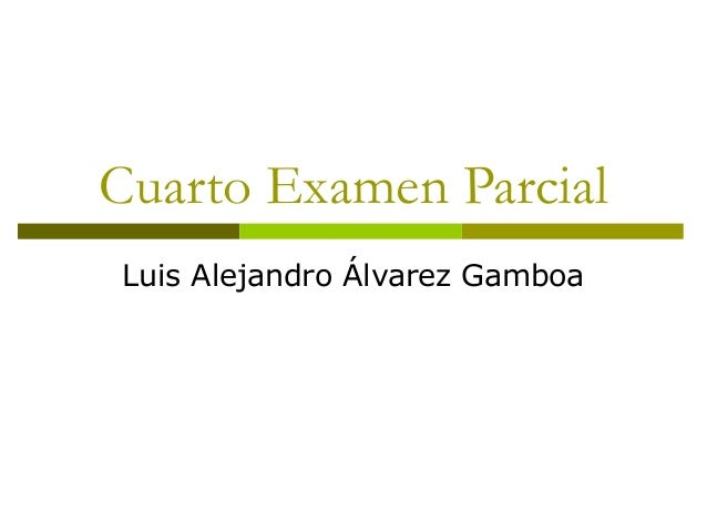 Cuarto Examen Parcial Luis Alejandro Álvarez Gamboa