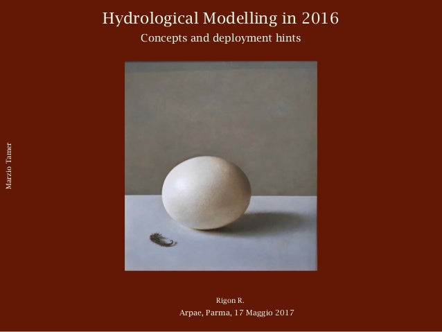 Hydrological Modelling in 2016 Concepts and deployment hints Rigon R. Arpae, Parma, 17 Maggio 2017 MarzioTamer