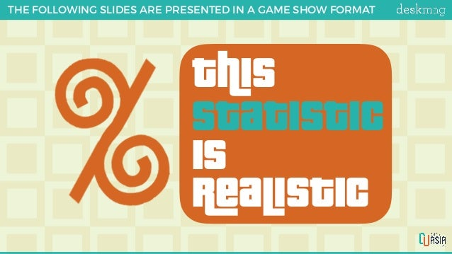 ths Statistic is RaLstic THE FOLLOWING SLIDES ARE PRESENTED IN A GAME SHOW FORMAT