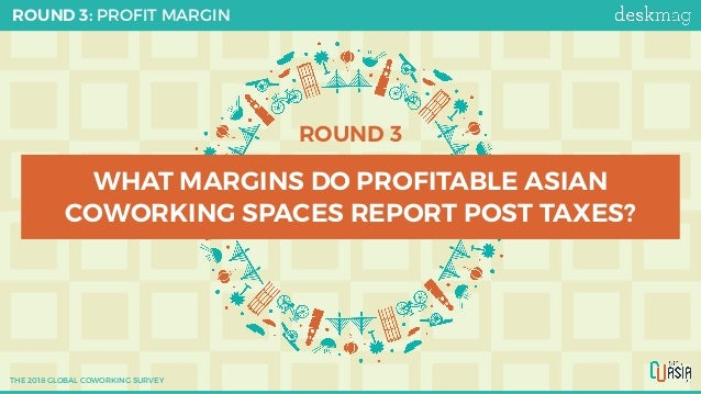 ROUND 3 WHAT MARGINS DO PROFITABLE ASIAN COWORKING SPACES REPORT POST TAXES? ROUND 3: PROFIT MARGIN THE 2018 GLOBAL COWORK...