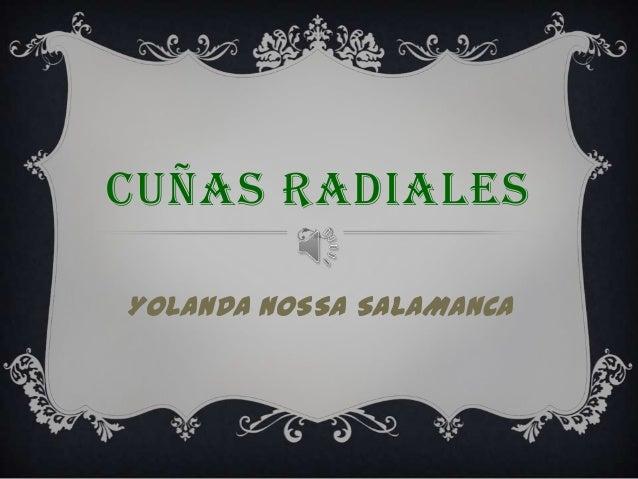 CUÑAS RADIALESYOLANDA NOSSA SALAMANCA