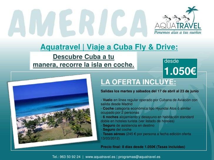 Aquatravel   Viaje a Cuba Fly & Drive:     Descubre Cuba a tu                                                             ...