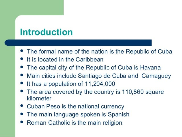 an introduction to the history of cuba The history of cuba (palgrave essential histories series) [clifford l staten] on  amazoncom  still, very useful introduction in preparation for further study.