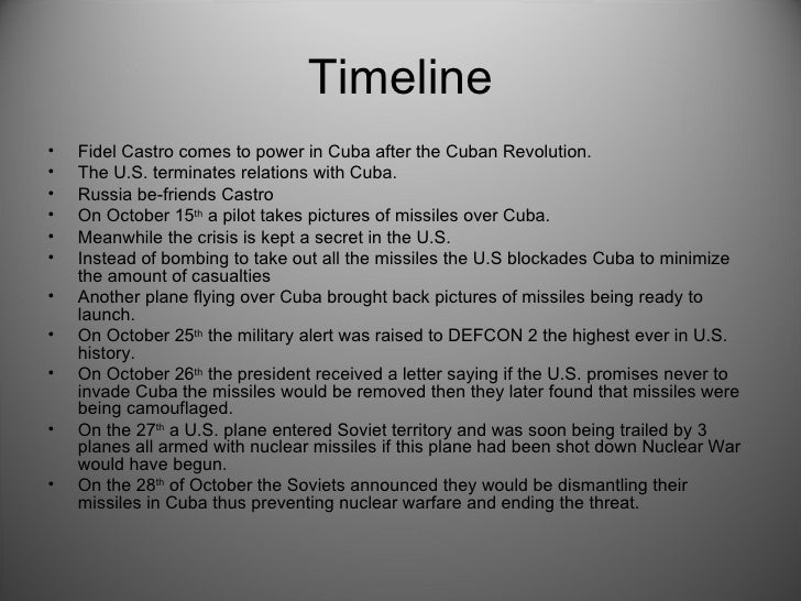 Cuban Missle Crisis Project
