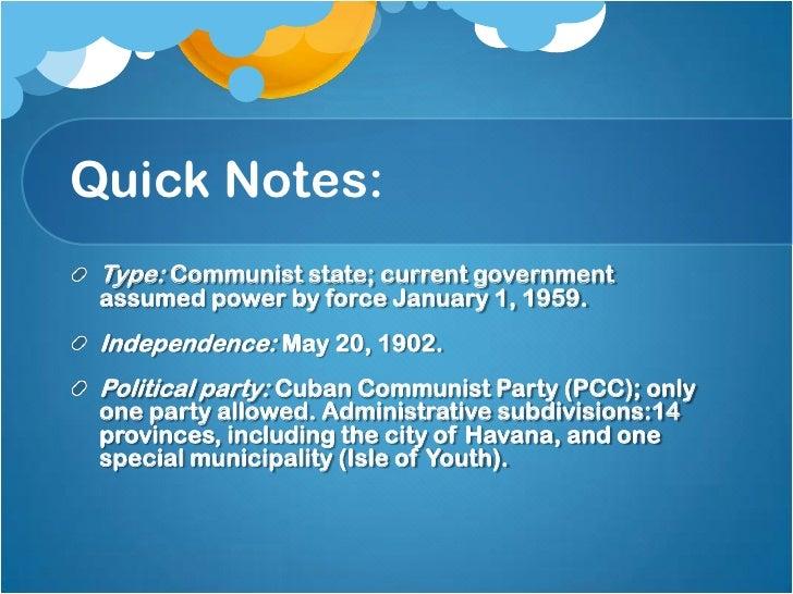 Cuban government Slide 2
