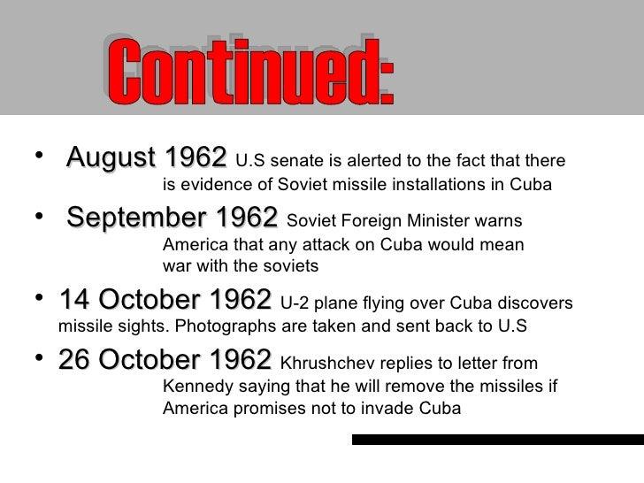Cuban missile crisis timeline activity