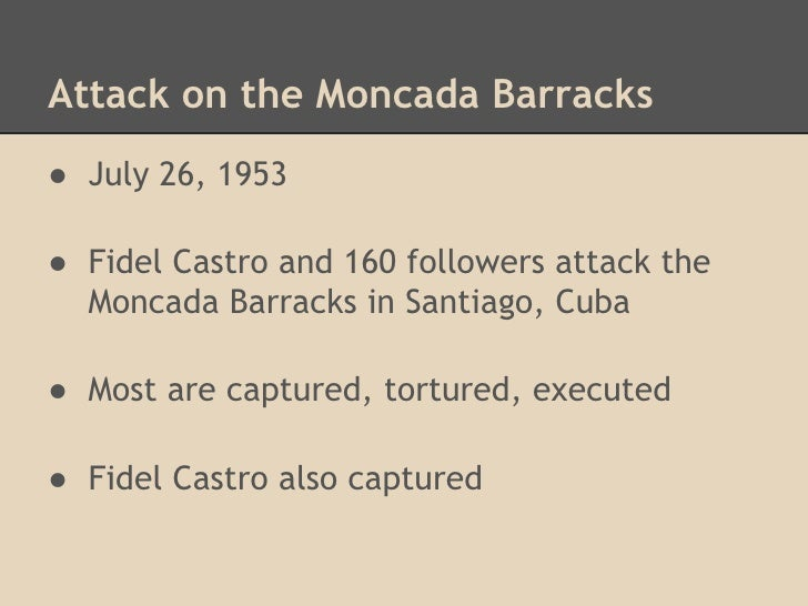 Image result for cuba fidel castro attacks moncada barracks