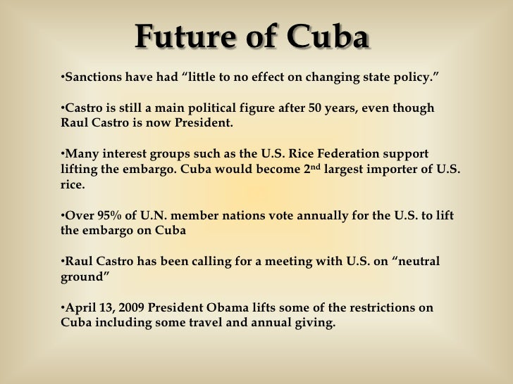 A timeline of the Cuban embargo