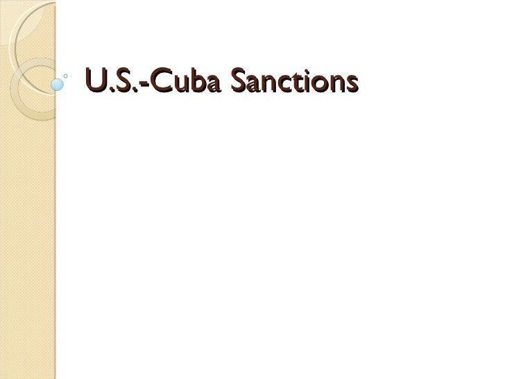 U.S.-Cuba Sanctions