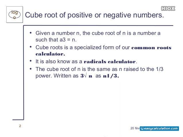 Cube Root Calculator - Easycalculation com