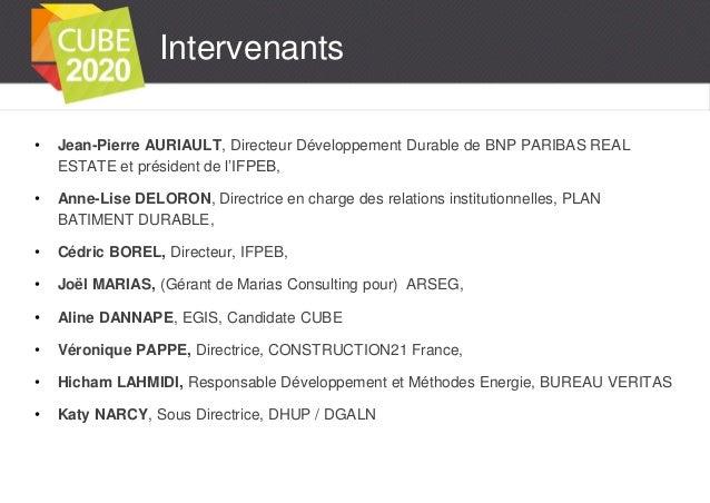CUBE2020 est lancé ! Présentation au SIMI - IFPEB - Premier Challenge Interentreprises sur les Economies d'Energies ! Slide 3