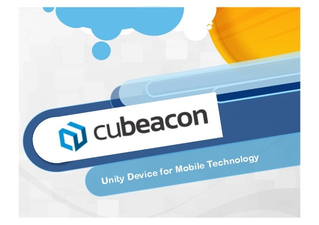 Cubeacon: iBeacon Bluetooth Low Energy (BLE) Technology