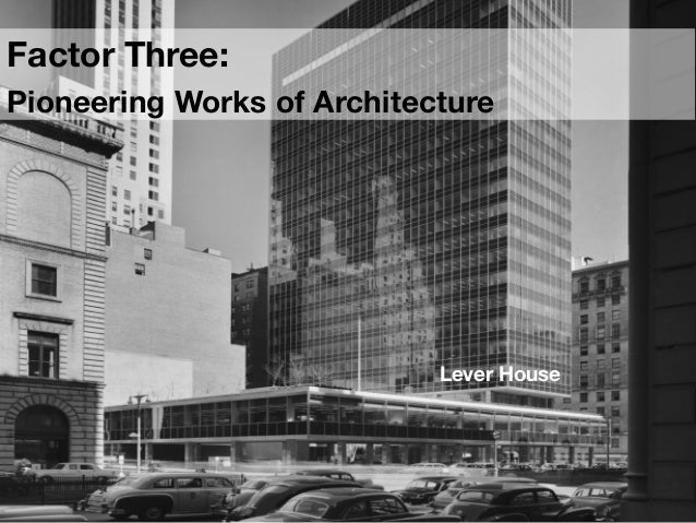 Pioneering Architecture  Skyscraper Amenities included:  • lots of light • restaurants • Libraries • sitting rooms for...