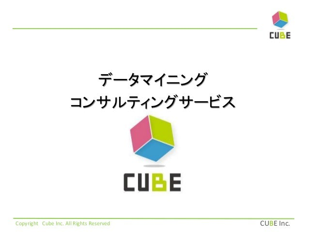 CUBE Inc.  データマイニング  コンサルティングサービス  Copyright Cube Inc. All Rights Reserved