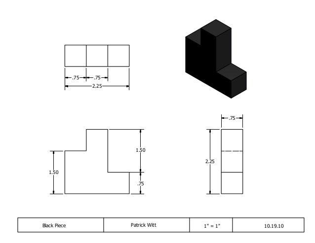 """Black Piece Patrick Witt 1"""" = 1"""" 10.19.10 .75 2.25 .75 .75 2.25 .75 1.50 1.50"""