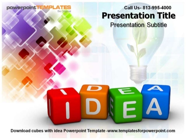 P0)» fCI'pOir'it Call Us- 813-995-4000  Presentation Title Presentation Subtitle  /   Download cubes with Idea Powerpoint ...