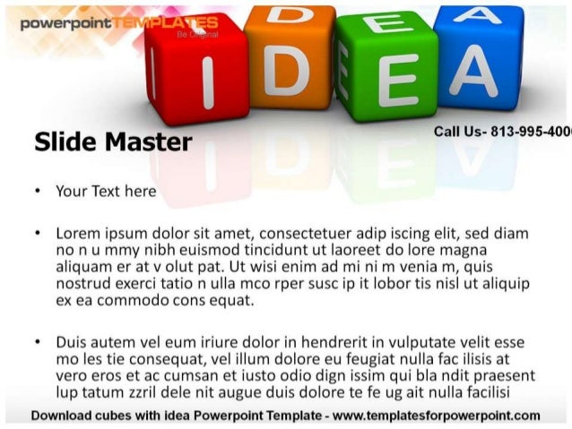 Cubes with Idea Powerpoint Template- Templates For PowerPoint Slide 2