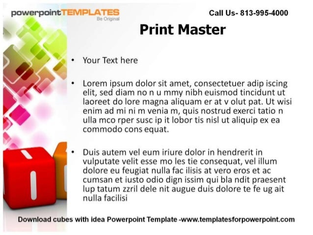 Cubes with Idea Powerpoint Template- Templates For PowerPoint Slide 3