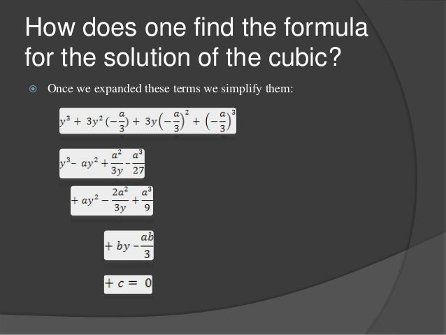 how to find the equation of a cubic