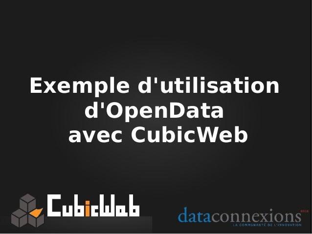 Cubicweb lauréat Dataconnexions 2013 Slide 3
