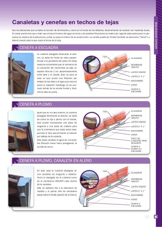 Cubiertas construcci n for Canaletas para techos de madera