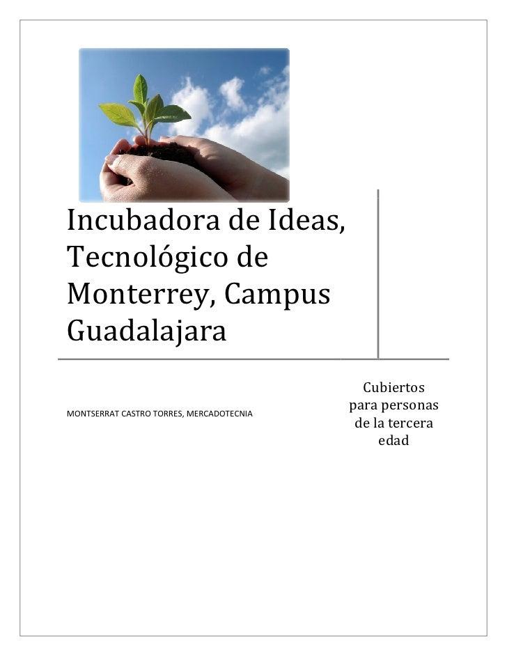 Incubadora de Ideas, Tecnológico de Monterrey, Campus Guadalajara                                             Cubiertos   ...