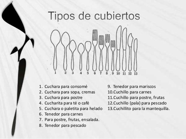 Cubiertos y servilletas for Clases de cuchillos de mesa