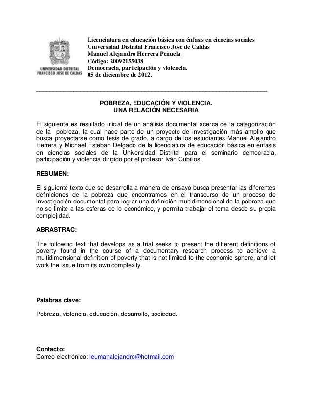 Licenciatura en educación básica con énfasis en ciencias sociales                   Universidad Distrital Francisco José d...