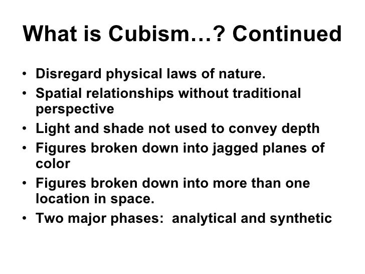 Cubism Lecture