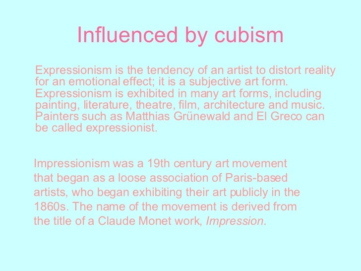 Essay on modernism including cubism and expressionism