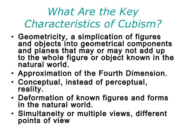 a description of cubism on the chain of art An early 1900s modern art movement, cubism focused on exploring relationships between images, perspectives and materials, and opened the door to abstraction cubism began in paris with pablo picasso and.