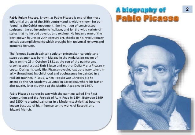 pablo ruiz y picasso - Pablo Picasso Lebenslauf