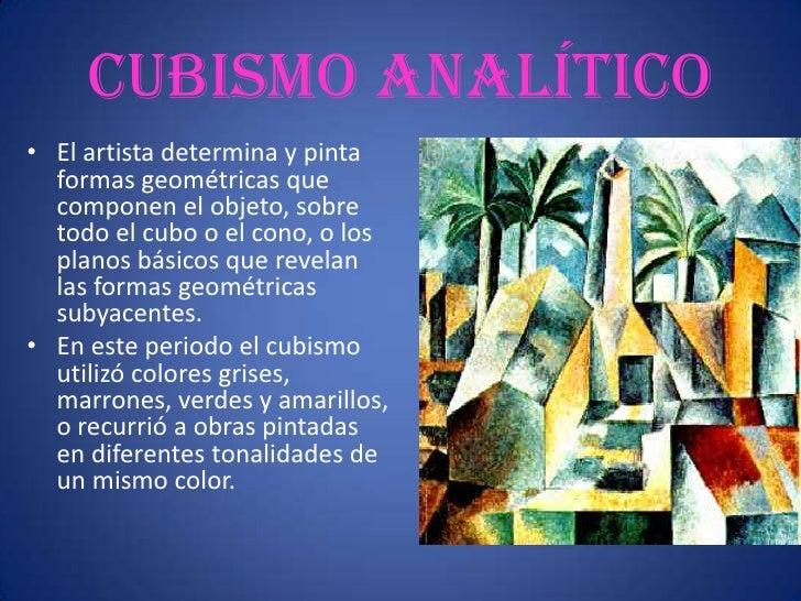 Cubismo sintético • Presenta un objeto desde   diferentes   ángulos, imposibles de   ver simultáneamente en   realidad, un...