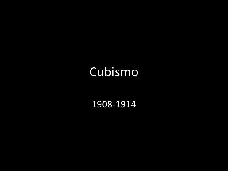 Cubismo 1908-1914