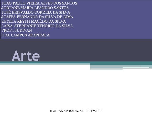 JOÃO PAULO VIEIRA ALVES DOS SANTOS JOICIANE MARIA LEANDRO SANTOS JOSÉ ERISVALDO CORREIA DA SILVA JOSEFA FERNANDA DA SILVA ...