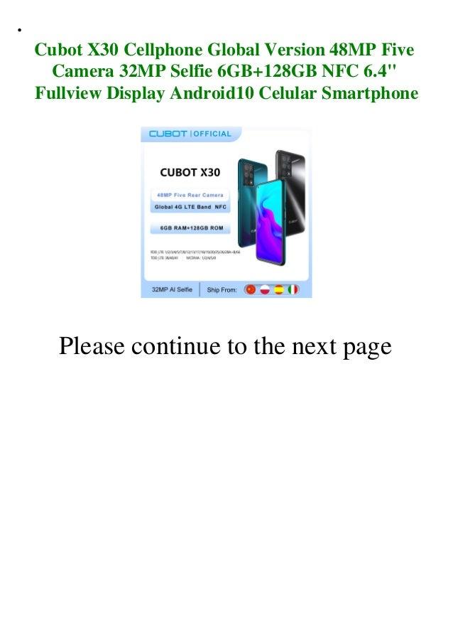 Cubot x30 cellphone global version 48 mp five camera 32mp selfie 6gb+128gb nfc 6.4 fullview display android10 celular smartphone  Slide 2