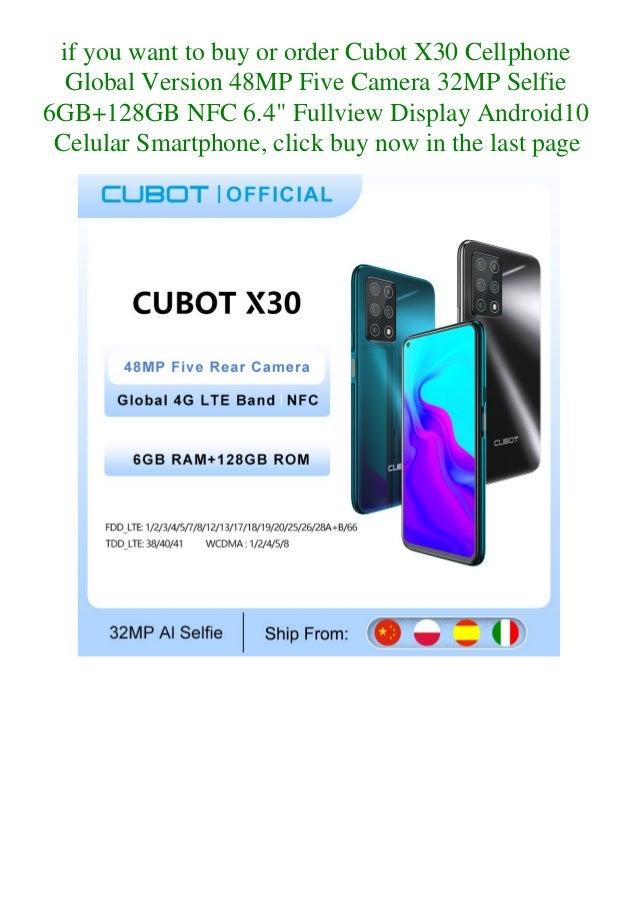 Cubot x30 cellphone global version 48 mp five camera 32mp selfie 6gb+128gb nfc 6.4 fullview display android10 celular smartphone  Slide 3