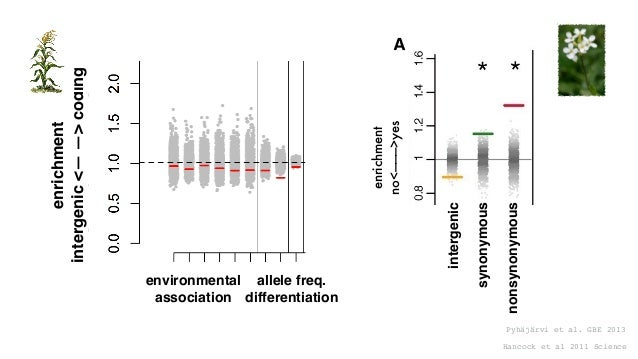Mei et al. 2017 bioRxiv %adaptivenonsynonymous substitutions p=0.0075