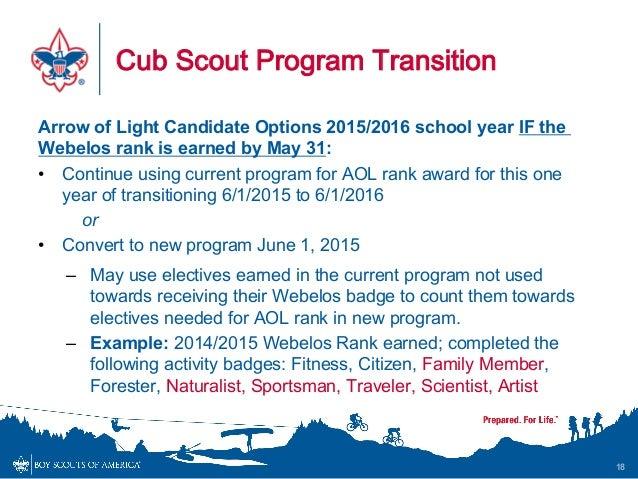 Cub Scout Program Changes 2015