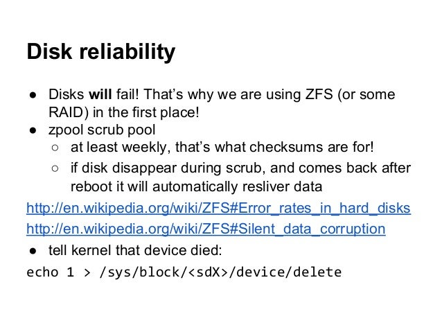 ZFS (on Linux) - use your disks in best possible ways