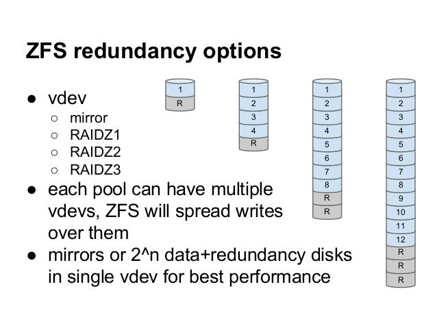 Zfs on linux use your disks in best possible ways for Mirror 0 zfs