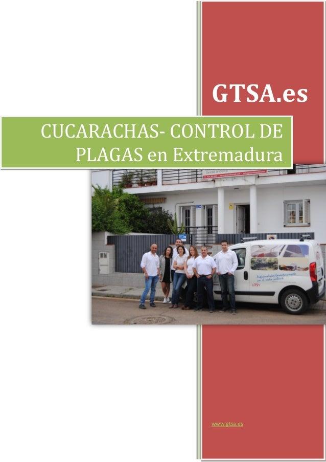 GTSA.es www.gtsa.es CUCARACHAS- CONTROL DE PLAGAS en Extremadura