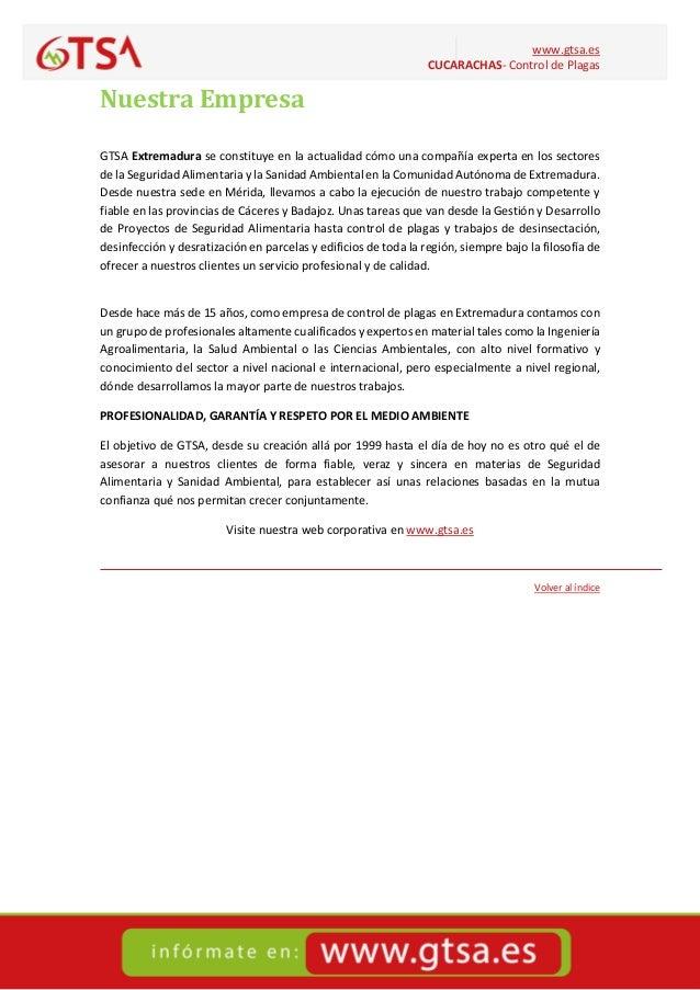 CUCARACHAS- CONTROL DE PLAGAS en Extremadura Slide 3