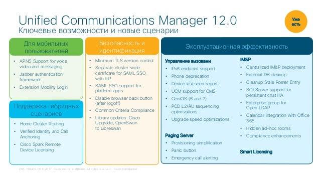 CUCM 12 0: новые возможности и особенности