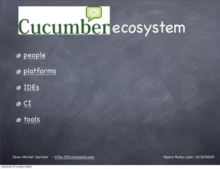 ecosystem                  people                   platforms                   IDEs                   CI                 ...